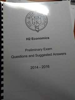 VJC H2 econs preliminary paper and answers
