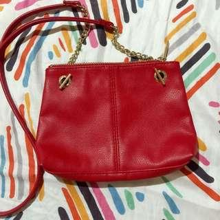 H&M Red Sling Bag Chain