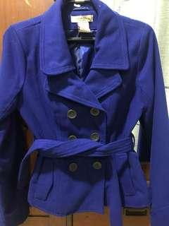 Double Breasted Wool Coat Jacket