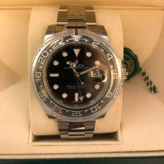 Rolex GMT II black face with Date