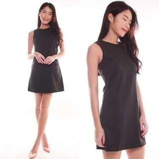 Carina V Back Basic Dress in Black LBD INSTOCK