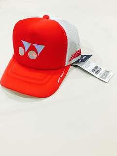 Authentic Yonex LCW Mesh Cap Limited Edition (Bright Red)