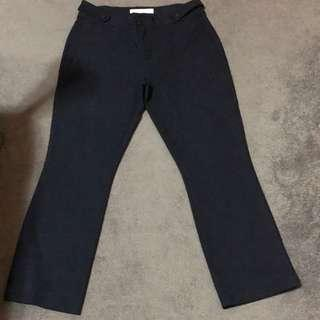 Mango Casual Slim Fit Pants (blue)