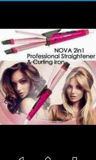 Nova 2 in 1 hair straightening and curling iron
