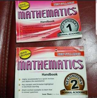 Sec 1/ 2 N(A) Maths Handbook