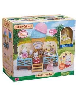 🚚 BN Sylvanian Families Ice Cream Shop with Striped Cat Mummy