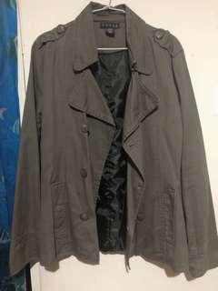 🚚 墨綠色雙排扣大衣