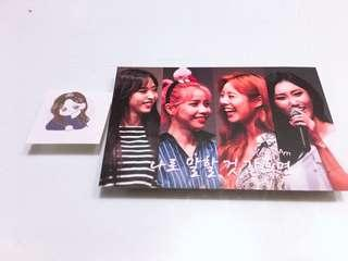 Mamamoo lomo + sticker