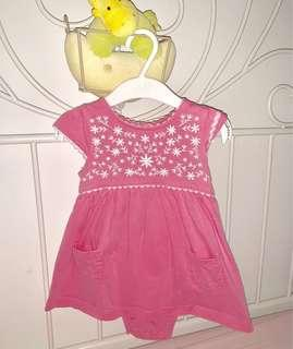 🚚 Carter New Pink Romper Dress ( 12 month baby )