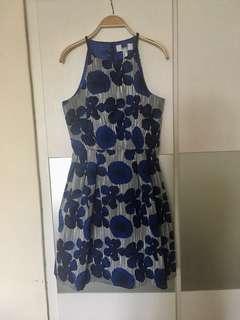 Sale🌺Badgley Mischka blue floral dress (cut-label)
