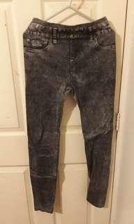 360 jegging pants looking leggings (in grey)