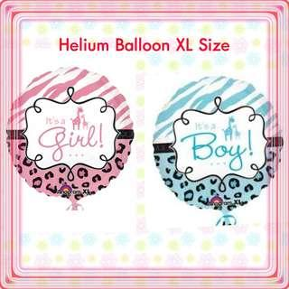 Helium XL Balloon Its a Boy, its a Girl