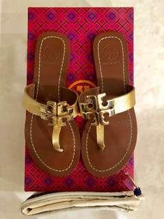 Tory Burch Metallic Thong Sandal **Mint Condition**