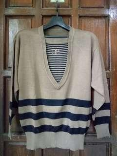 Brown Knitted Sweater