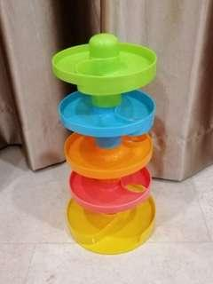 Used Spiral Tower Ball Toy