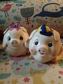 可愛豬仔豬女錢罌 Lovely piggy banks