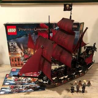 *Used* Lego 4195 Pirates of the Caribbean Queen Anne's Revenge