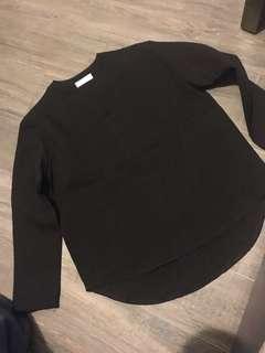黑色上衣長䄂top black long sleeve top