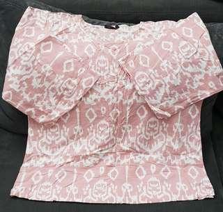 Nude Batik Kimono Blouse