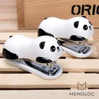 Cute Mini Portable Panda Stapler Set