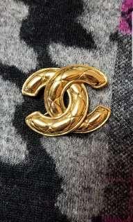 Chanel vintage CC 格紋 brooch 胸針