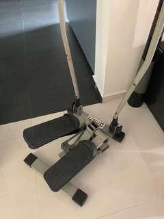 Gym equipment/power pac 3- the triple burner/track mill