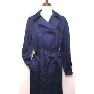 New NWT GAP Women's Belt Trench Coat Blue Jacket XS Authentic America 女裝 藍色 風褸 乾濕褸 軍褸 美國 真品 加細