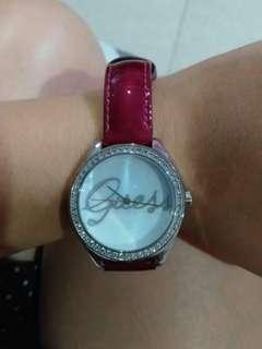 Authentic Guess Purple Leather Watch
