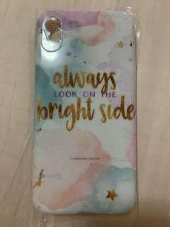 iPhone XS pastel quote casing