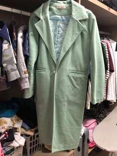 🚚 便宜 粉綠色長版外套