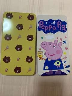 Line Brown Bear and Peppa Pig design holder box