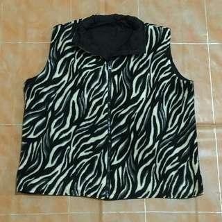 Zebra Crazy Revesible Vest