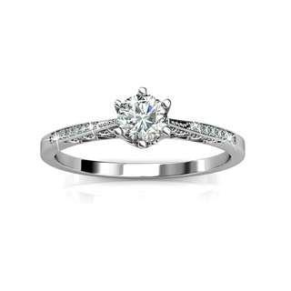 Swarovski Crystal Destiny Ring (White Gold Plated)