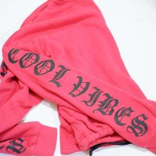Red 'Cool Vibes' Sweater