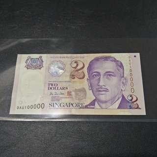 Singapore $2 0AU100000