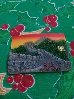 SOUVENIR china ref magnet GREAT WALL