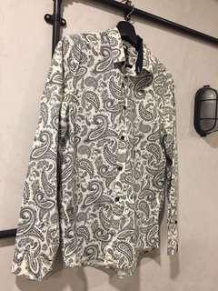 H&M Paisley Design Long Sleeve Shirt