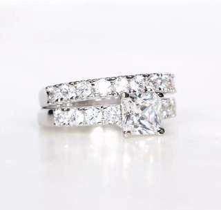 2 Piece Engagement & Wedding Ring