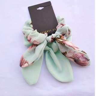 Forever 21 2pcs. Floral Chiffon Scrunchie Pony Tail