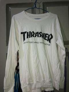 Thrasher White Sweatshirt