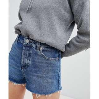 ⚡BN ASOS Raw Hem Denim Shorts