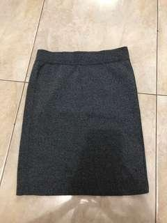 Pencil skirt bahan sweater