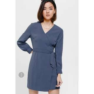 Love Bonito Oneryn Cuffed-Sleeve Sash Dress