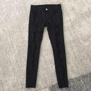 Skinny ripped jeans black