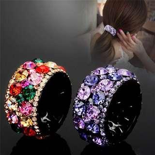 [PO] Crystal Diamond Hair Clip Claw Ponytail Holder