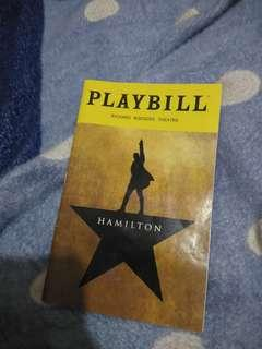 Hamilton musical playbill