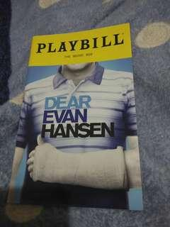 Dear Evan Hansen musical playbill