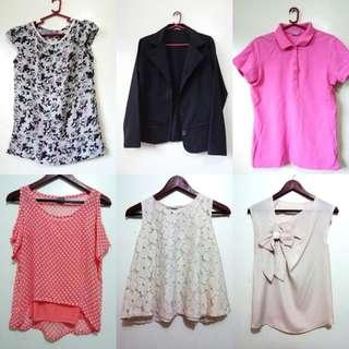 Tops, skirts and dresses
