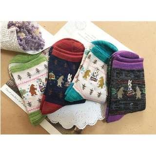 彼得兔🔰聖誕風格中筒襪--四色