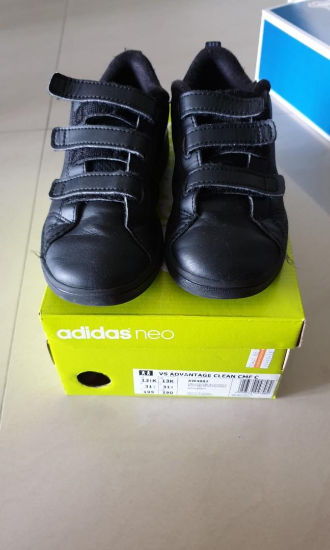 factory outlet super cheap exclusive deals Adidas black school shoes size us13.5, Babies & Kids, Girls ...